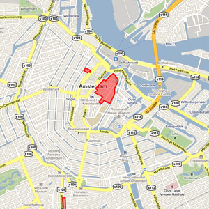 amsterdam red district map